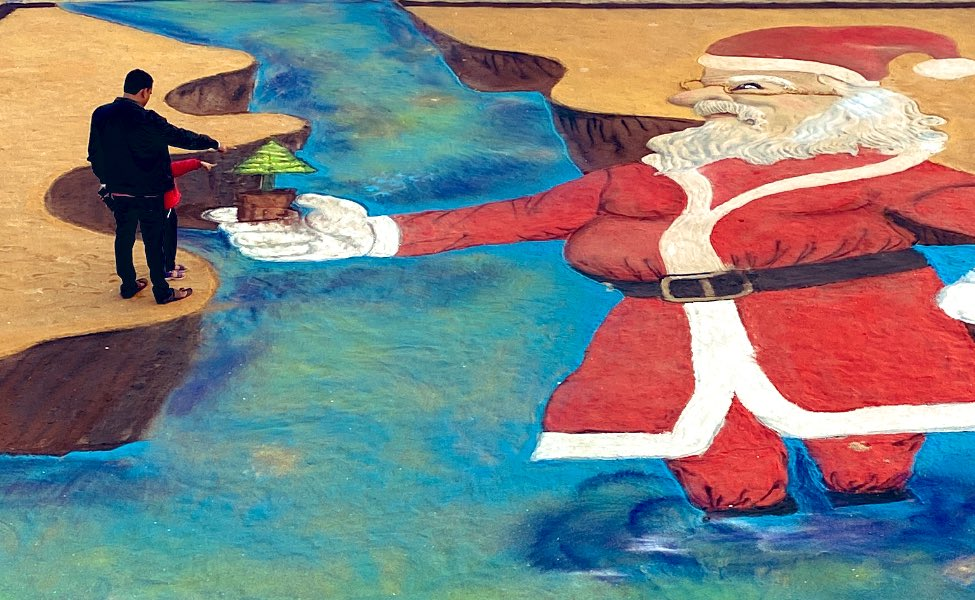 Sudarsan Pattnaik On Twitter Message From Santa Claus Gogreen
