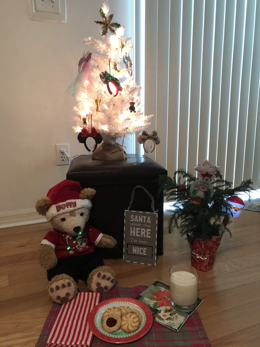 Santa didn't come! And I even got a Christmas tree up last night & left cookies & milk! I put out my super special Disney passholder glass fur hom too!