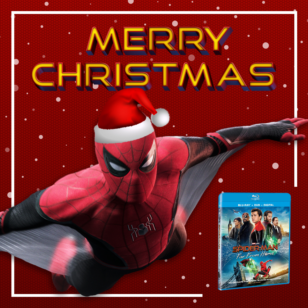 Merry Christmas from #SpiderManFarFromHome! 🎄