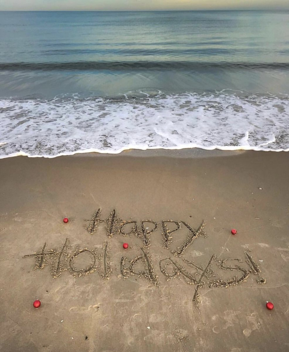 Sand is the new snow. Best wishes for a happy holiday season and a joyful new year! 🌊