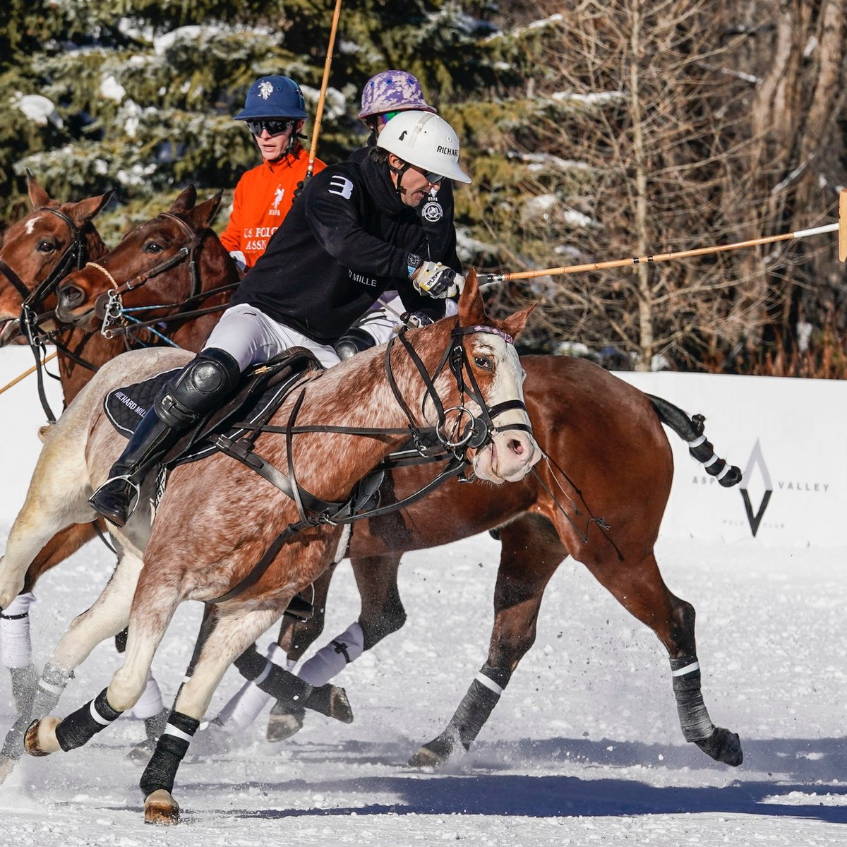 For the second year in a row, Argentinean 10-goaler Pablo Mac Donough led Team #RichardMille to first place in the World Snow Polo Championships, in Aspen, Colorado last week. It wasn't an easy battle, as Team U.S. Polo Assn.