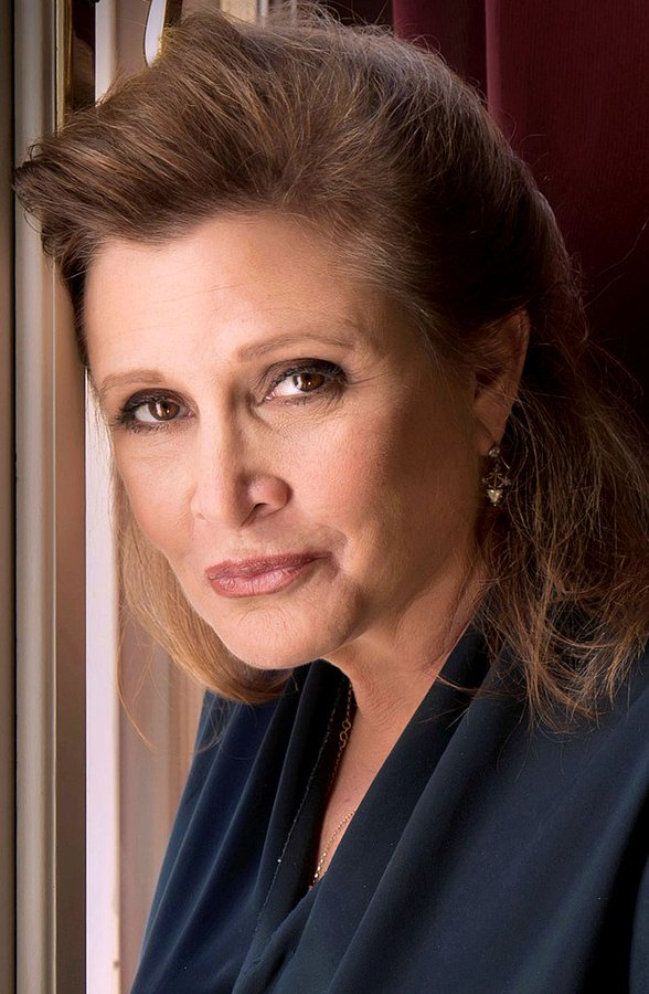 Carrie Fisher died on this date December 27 in 2016. Photo by Riccardo Ghilardi. #OTD https://t.co/pzUebZ4o9z