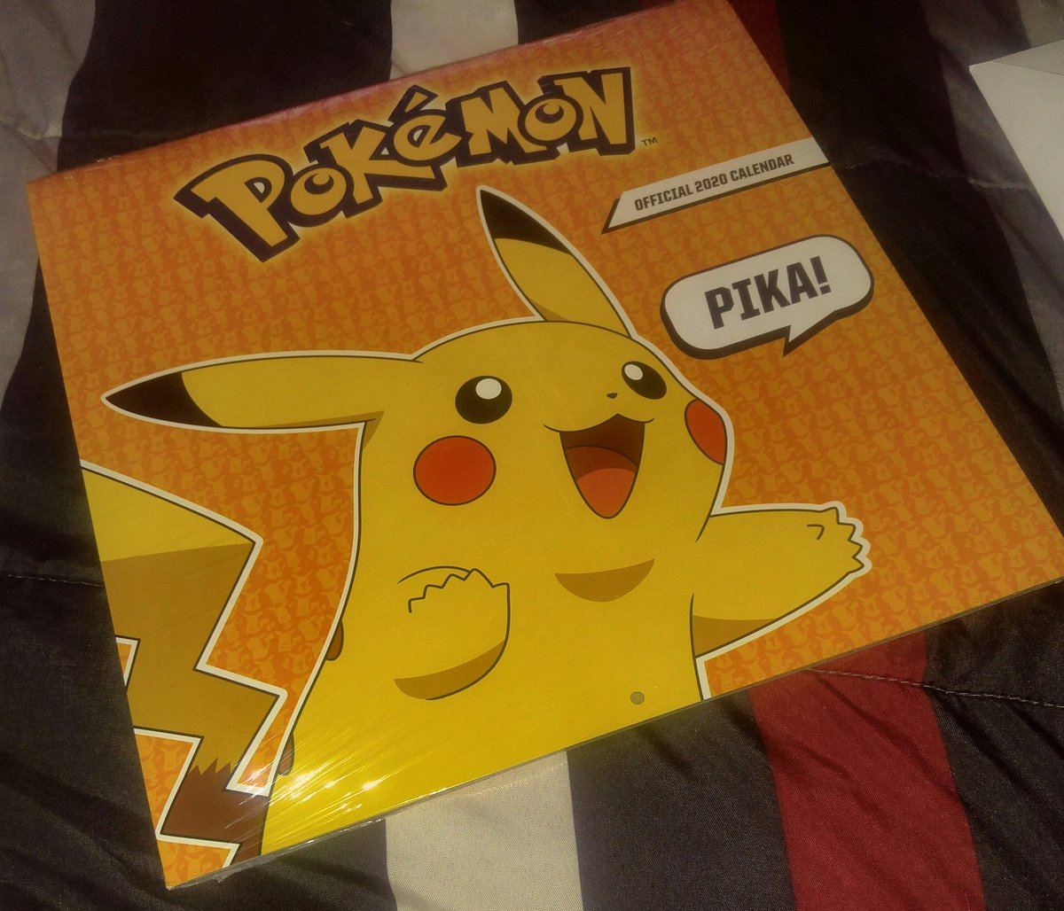 @TheVeronicaT By the way, I got me a brand new 2020 calendar with Pikachu on the front page!