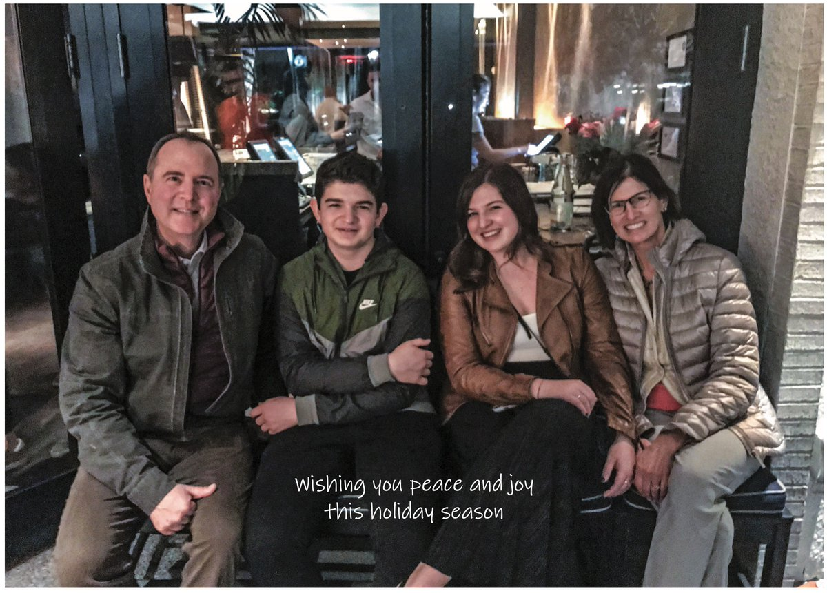 Happy Holidays from the Schiff family! We wish you peace, love and joy as you relax with those you love.