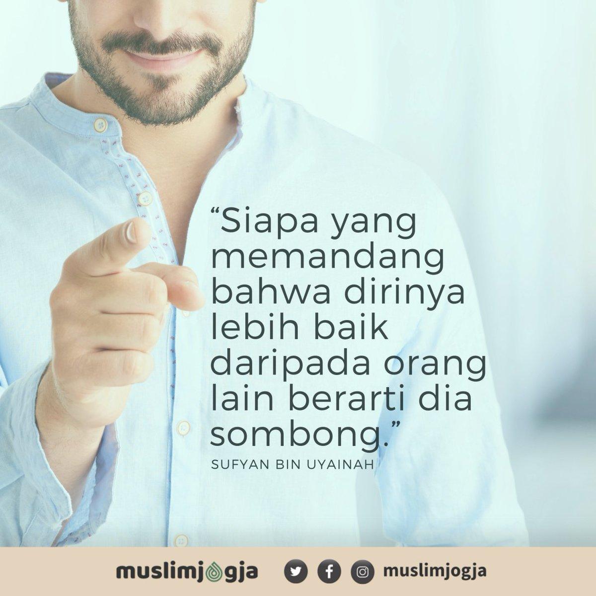 """💡 """"Siapa yang memandang bahwa dirinya lebih baik daripada orang lain berarti dia sombong"""" ➖➖➖➖➖➖➖➖ 📔 Sufyan Bin Uyainah https://t.co/uquBB35hAy"""