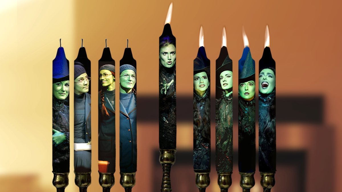 On the 4th night of Chanukah, we light the... Eleka Namenorah! #HappyHanukkah