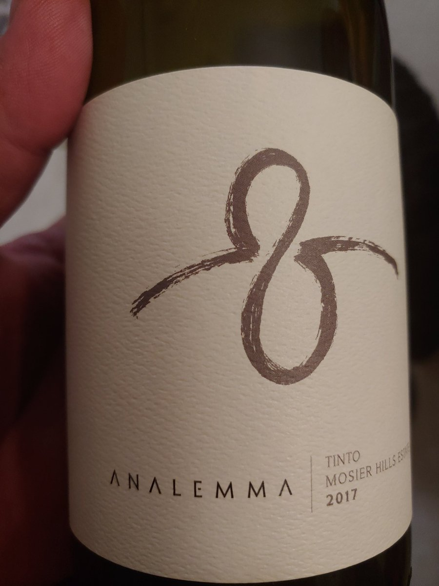 My Christmas gift to the wine lovers....try this. It's the Tinto from Analemma...cool logo to