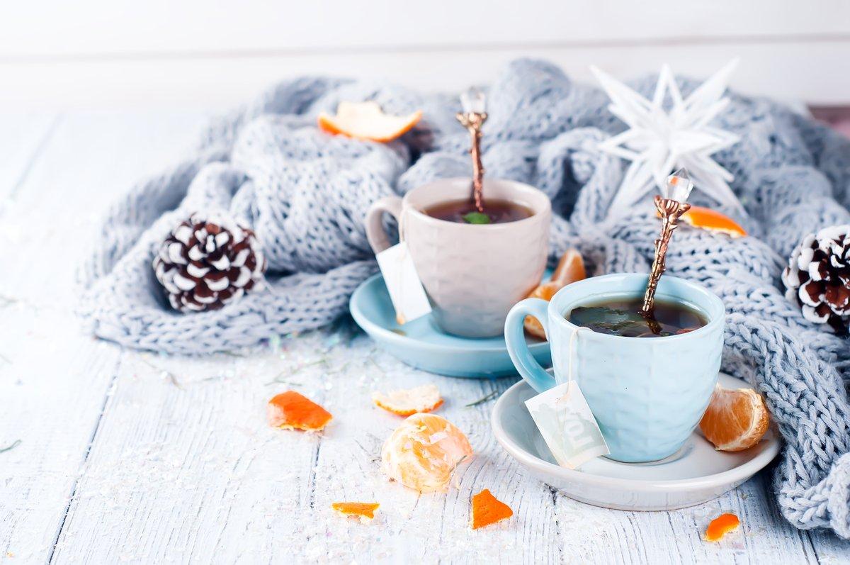 картинка чашка чая и снег аркадия