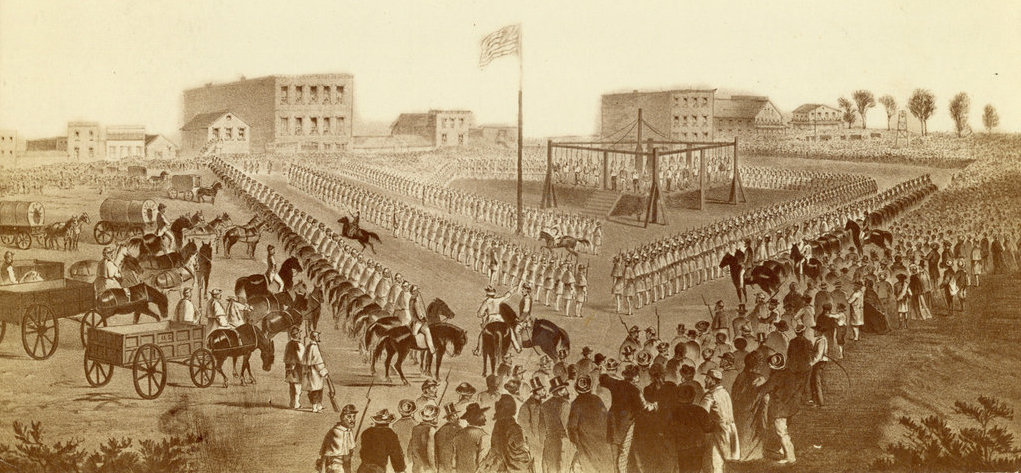 On this day in 1862, Abraham Lincoln ordered the largest ever mass execution in the country's history, hanging 38 innocent Dakota men, after sham military trials. The 'crime' they were convicted of was resisting their own ethnic cleansing.