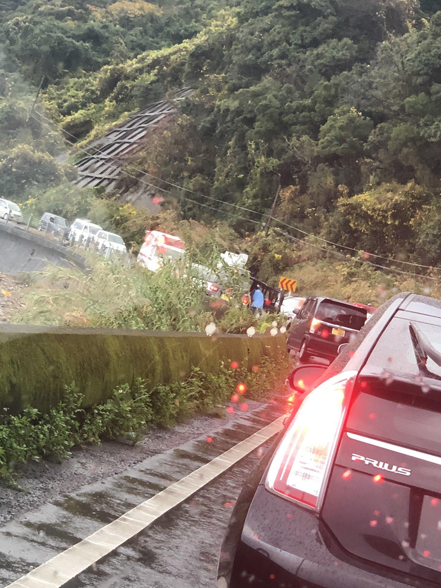 鹿児島市平川町の国道226号線で交通事故の現場画像
