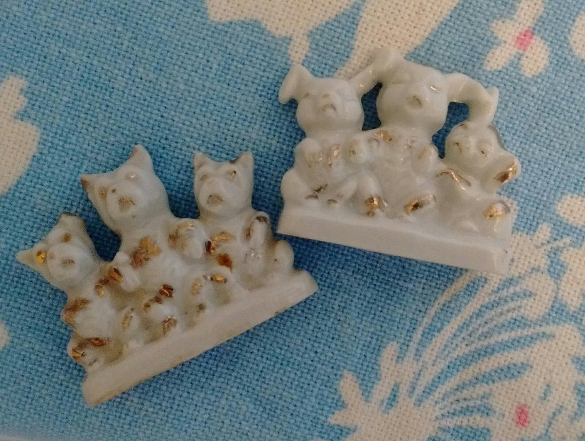 Sitting Dogs Pair of Miniature Dogs Figurines, Cute for Cake Toppers, Shadowbox, or Shelf, Terrier Dog https://etsy.me/2ryPnMA #vintage #collectibles #white #gold #japanmade #figurine #miniature #little #shelfdecorpic.twitter.com/xWmsPmihQ3