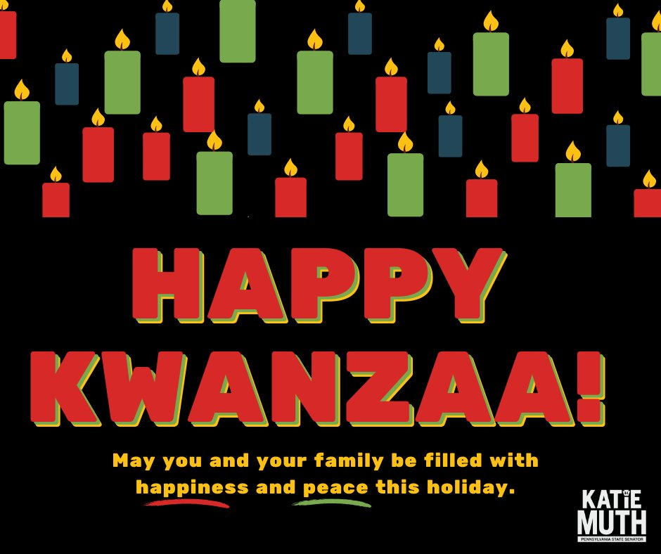 Happy Kwanzaa to all those celebrating. Light, happiness, and peace to you in the coming year.