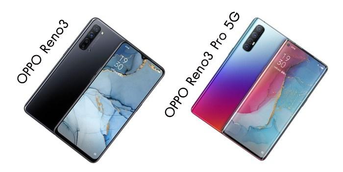 شركة #Oppo تعلن رسمياً عن  #Reno3Pro5G بتصميم ثقب الشاشة مع معدل تحديث 90Hz ومعالج  #Snapdragon765G وهاتف #Reno35G اللي يتميز بتصميم نتوء القطرة في الكاميرا الأمامية   يتميز الهاتفين ب4 كاميرات خلفية ، مع واجهة ColorOS 7 و بتصميم زجاجي بألوان متدرجة ويدعمان شبكات #5G pic.twitter.com/5kelqynMHj