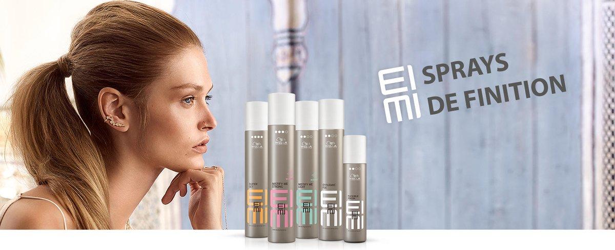 #coiffants #SPRAYS #FINITION #WellaProfessionals #EIMI Wella Professionals EIMI : Produits coiffants professionnels Sprays de finition. Choisissez votre niveau de fixation,  souple tenue légère (1 ou 2) jusqu'à la Fixation extra forte.