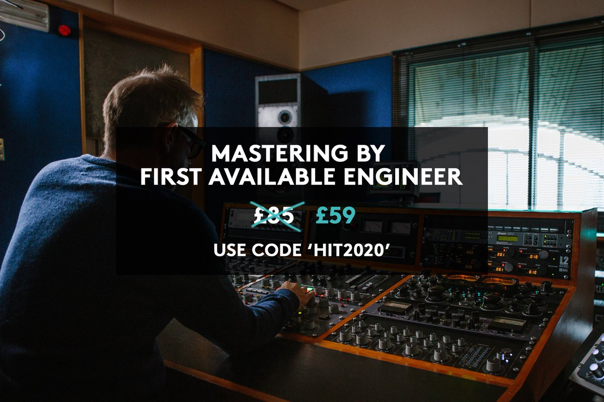 Last chance to take advantage of our biggest offer this year, give your tracks the Metropolis treatment and take your sound to the next level. Book now, use whenever you ready. Simply enter the promocode 'HIT2020' at checkout.   http://www.thisismetropolis.com/onlinemastering