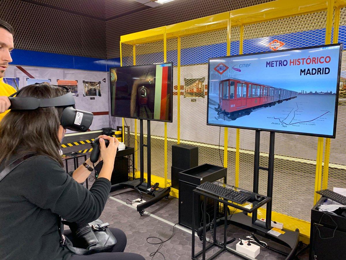 Resultado de imagen de La Comunidad crea una zona interactiva de realidad virtual que permite conducir trenes con simuladores en Metro de Madrid