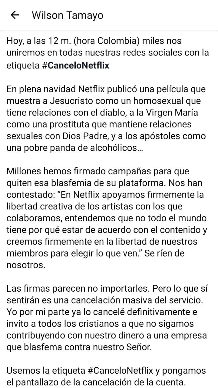 Boicot a Netflix por burlarse de Jesús EMu2vT2U8AAflE7?format=jpg&name=large