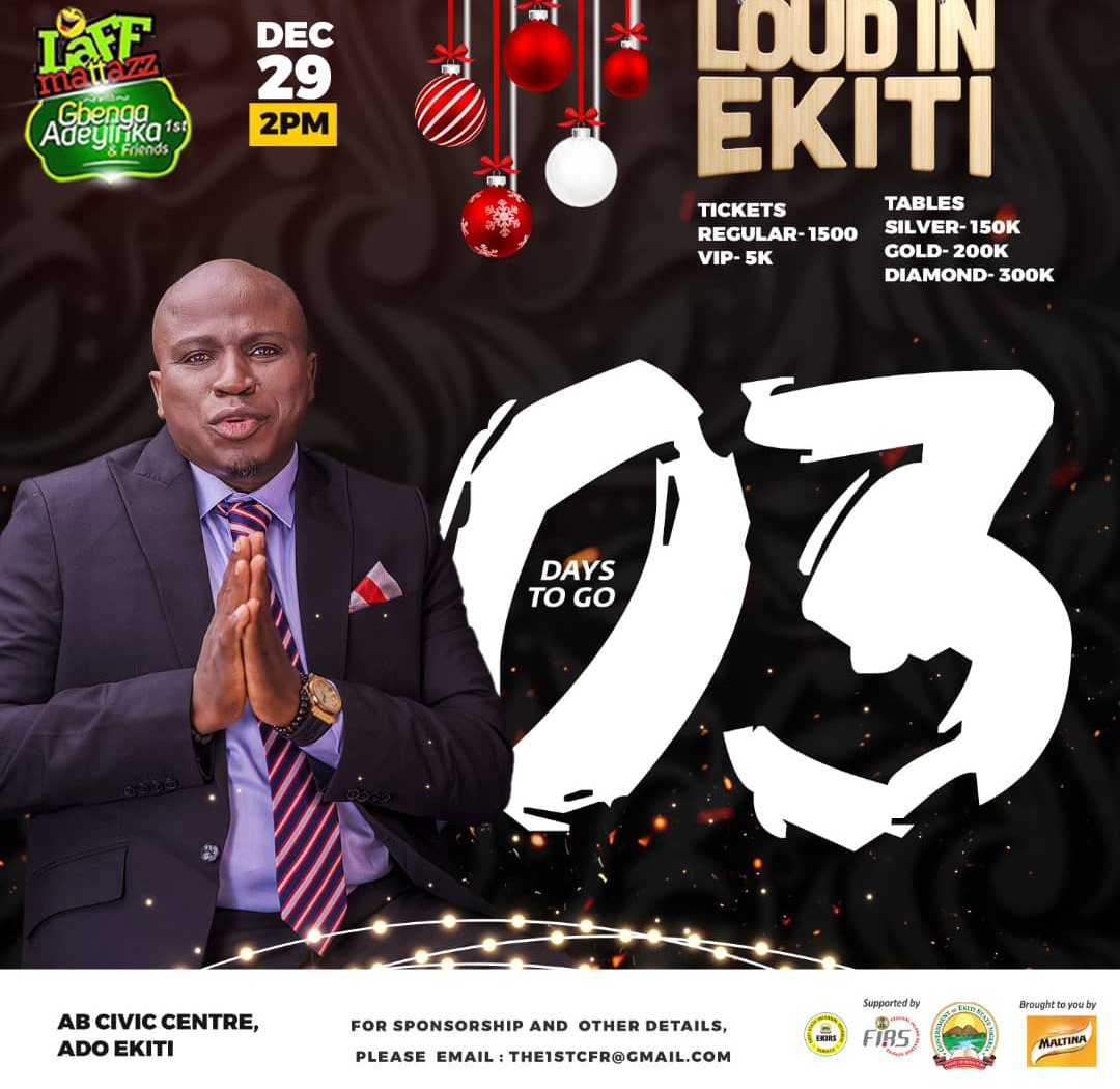 Shittu!!! @SolaShittumusic will be at @gbengaadeyinka's #Laffmattazz on 29th of this month?  Are you ready? Gbé body ẹ!!! pic.twitter.com/7UEjkGMX1i