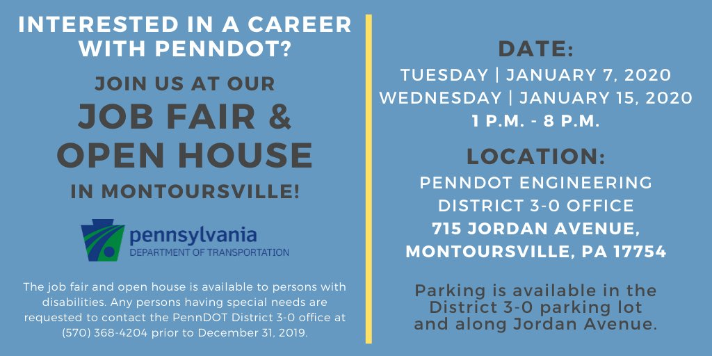 It's not too late! Job Fair and Open House today until 8 PM: