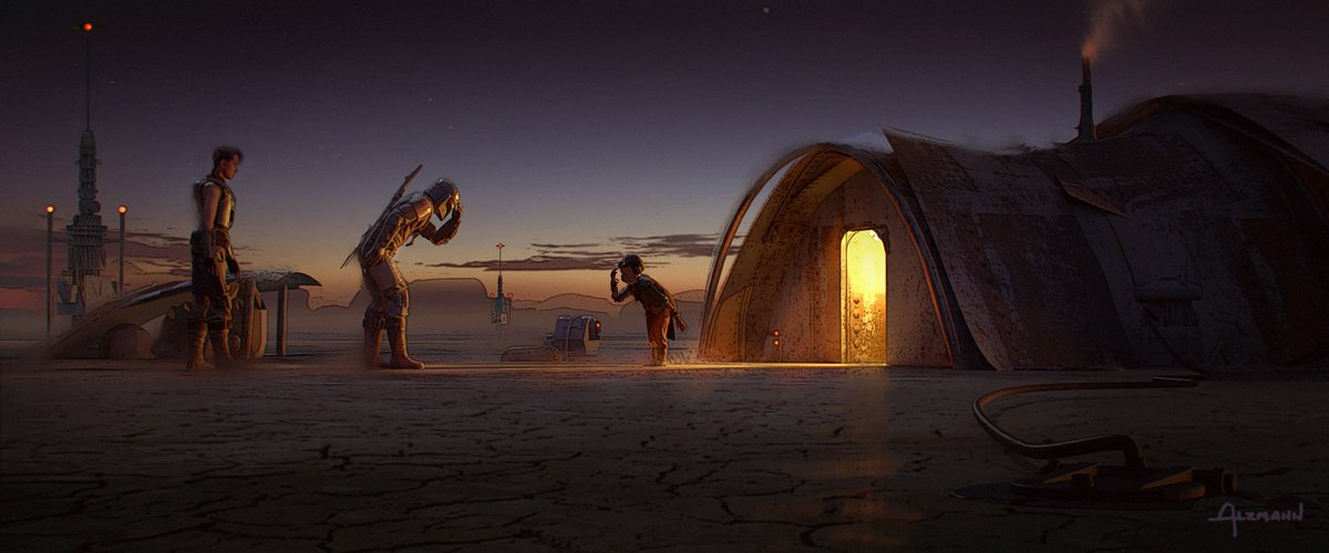 Check out some of the official concept art from Chapter 7 of #TheMandalorian by Christian Alzmann (2/3).