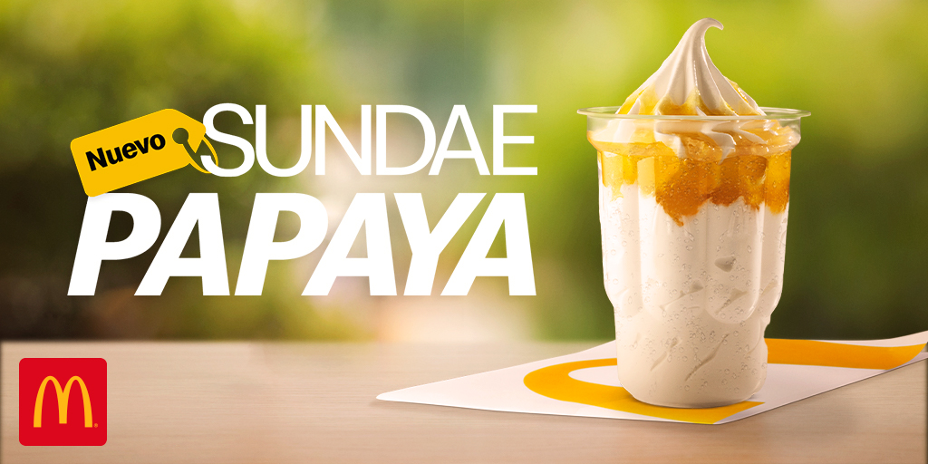 Irresistible, delicioso, refrescante, único son solo algunas palabras que describen el sabor del Sundae Papaya 🍦¡Ven a probarlo! https://t.co/Q2E3I3NBXp