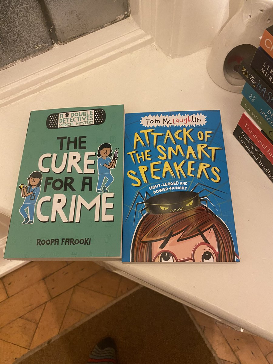 Thrilled to come home to a finished version of 'The Cure For A Crime' by @RoopaFarooki. This ones highly recommended from me and is a great addition of diverse main characters for your class library. The new @_TomMcLaughlin looks interesting too!