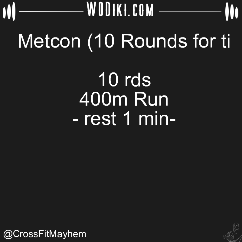 WOD 12.26 by @CrossFitMayhem  Real difficulties can be overcome; it is only the imaginary ones that are unconquerable. #crossfitaddict #run