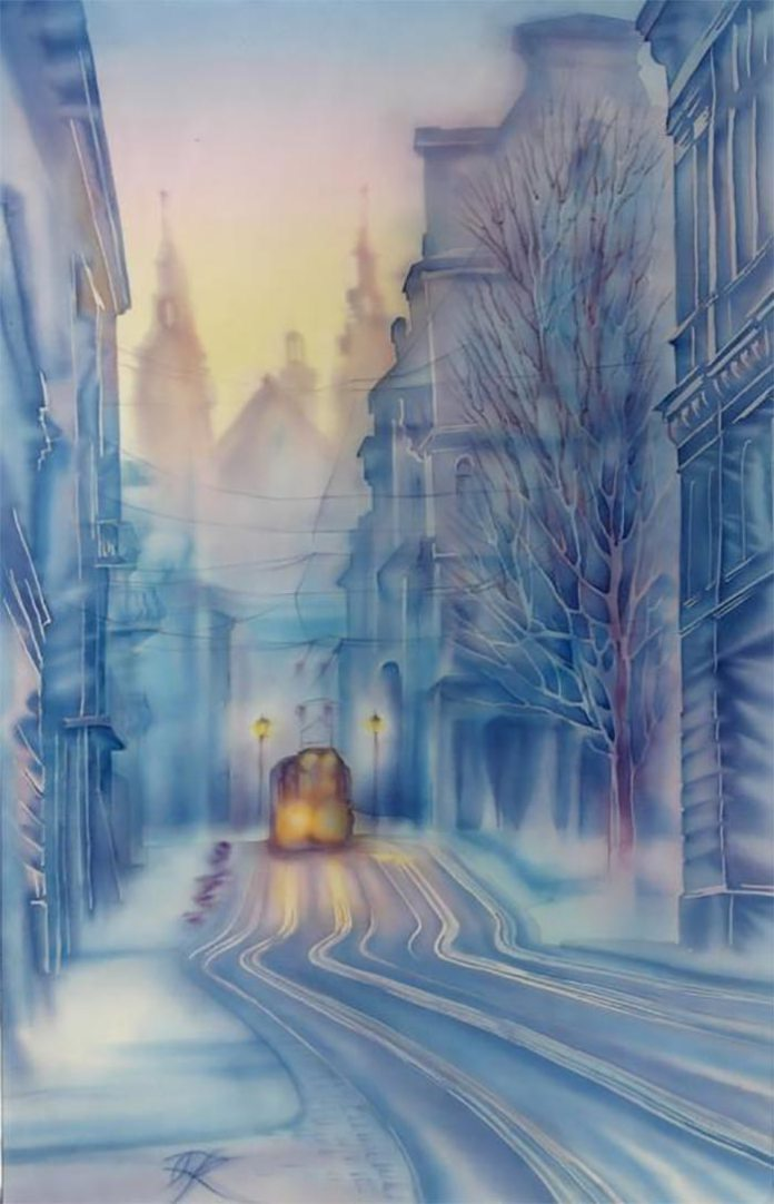 "❄️""Winter is much like unrequited love; cold and merciless."" ~Kellie Elmore 🎨 Olena Korolyuk 💙"
