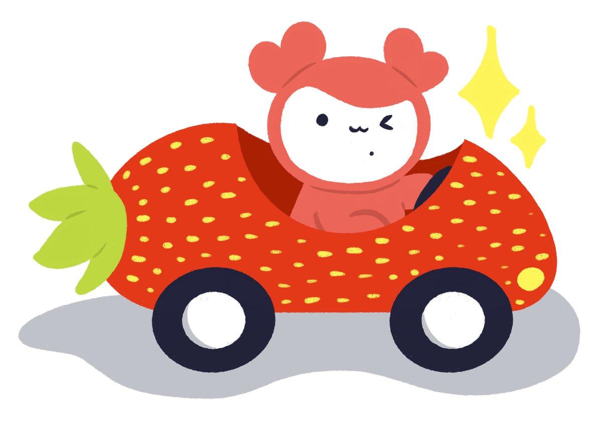 Chaengvely driving the strawberry-mobile 🍓✨  #TWICE #CHAEYOUNG #CHAENGVELY #artforchaeyoung #TWICEfanart @Chaengvelygram https://t.co/8oIreiATZU