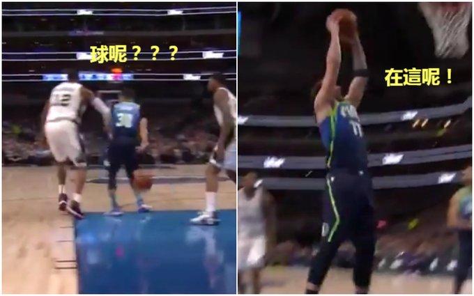 【影片】叫Curry的打球都很「騷」!小Curry背後長眼妙傳東契奇灌籃,獨行俠官方:年度最佳傳球!