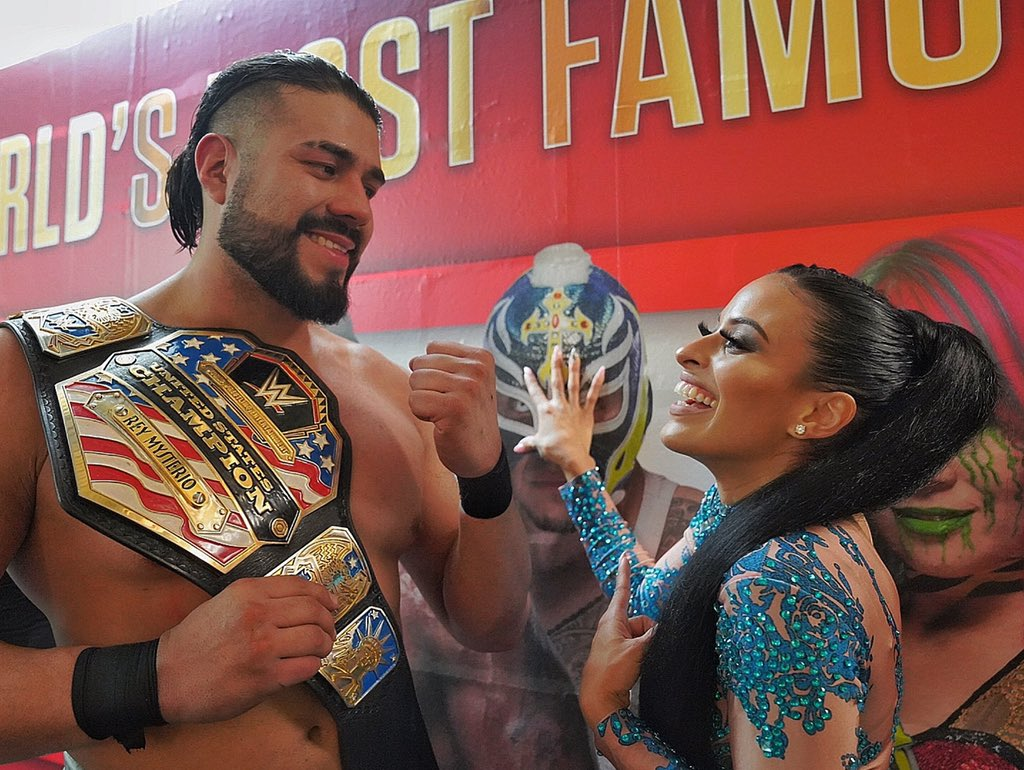 Andrade, Zelina Vega Comment On WWE US Title Win On Social Media