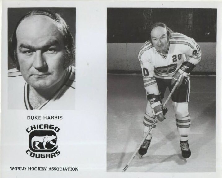 """@BMcCarthy32 This is former NHL/WHA hockey player George """"Duke"""" Harris. Born in 1942, he was 31 when this pic was taken.   https://t.co/YAQBgIct46 https://t.co/wehGuqsNm5"""