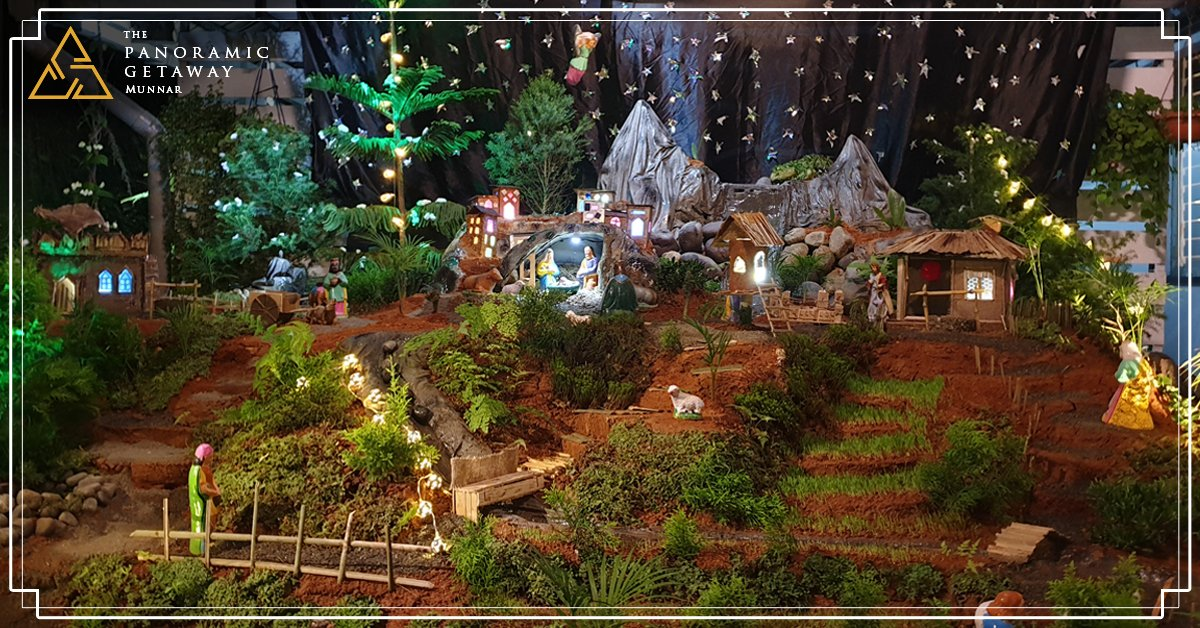 The Panoramic Getaway did not leave any stone unturned when it came to celebrating Christmas this year. #christmaseve #christmascrib #christmasdeco #munnar #TPGpic.twitter.com/MuCvKBHBmY