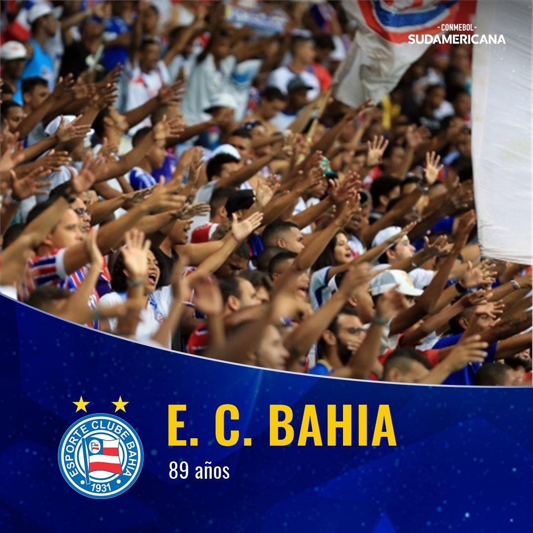 🎉🎊 ¡Parabéns @ECBahia!  👏 Hoy celebra sus 8⃣9⃣ años de vida.  🇧🇷🔥 El equipo brasileño jugará la #Sudamericana 2⃣0⃣2⃣0⃣ ante @clubnacionalpy.  🔜 La ida será el 12 de febrero y la vuelta, el 26.