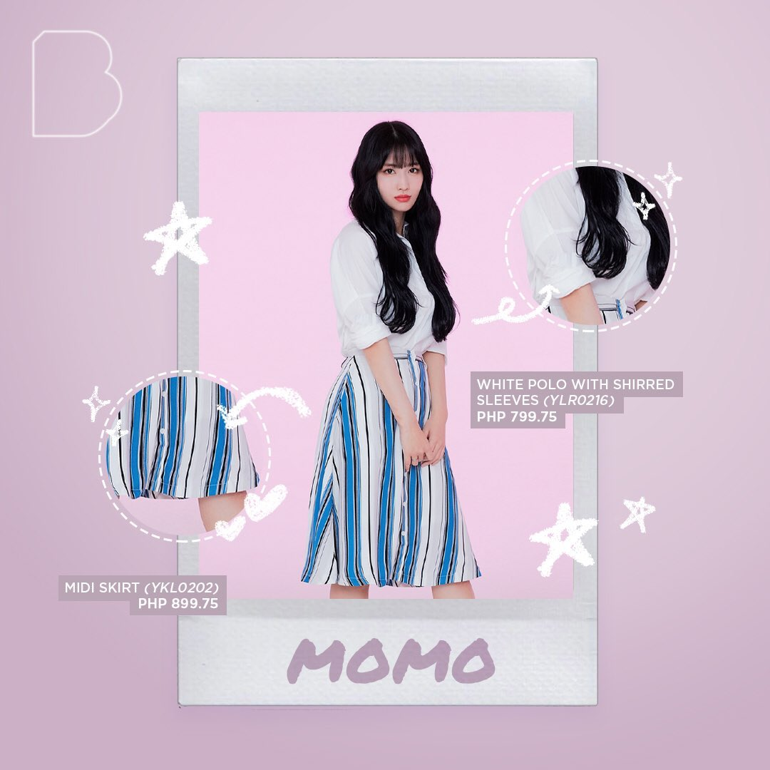 To all fanboys out there that want to wear Twice clothes in Bench x Twice event I found one combination with Momo White Polo sleeves.  Combine it with Uniqlo Ezy Ankle pants   #TWICEXBENCH <br>http://pic.twitter.com/NoP1B7izKj