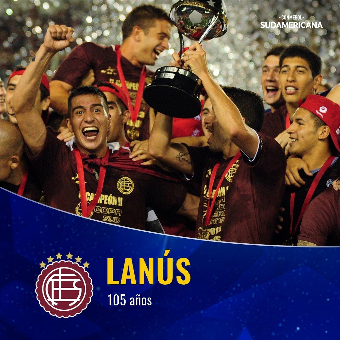 🎊🎉🇦🇷¡Feliz cumpleaños @clublanus! ⠀ Ganador de la #Sudamericana 2⃣0⃣1⃣3⃣, el equipo argentino celebra sus 1⃣0⃣5⃣ años. ⠀ Jugará la edición 2⃣0⃣2⃣0⃣ de la Copa. Se enfrentará con @UCatolicaEC 🇪🇨.  ⠀