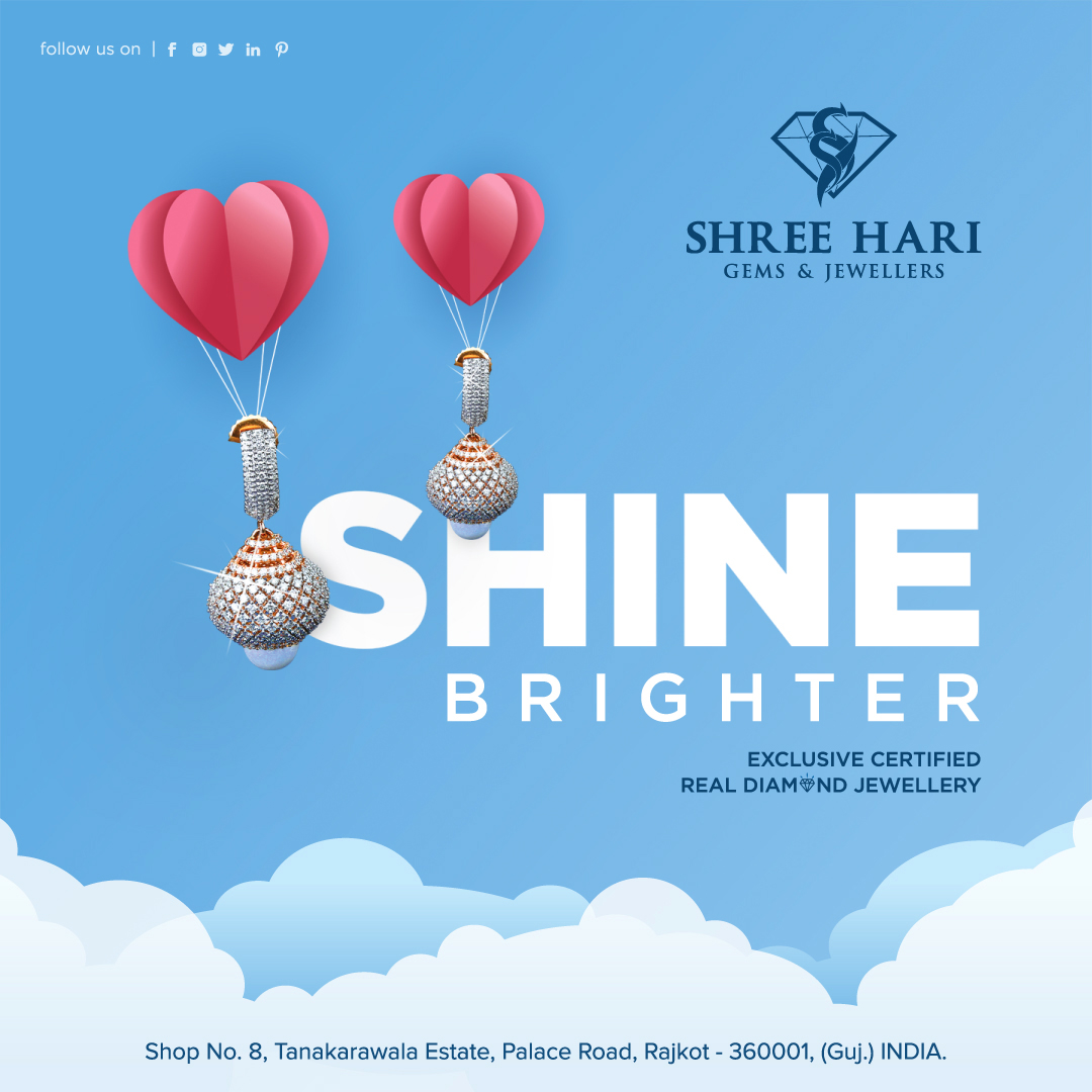 Shine Brighter . . . #ShreeHari #ShreeHariJewellers #Jewellers #Collection #Gold #Silver #JewelryArt #GoldJewellery #Jewellery #Fashion #Gold #Bracelet #Jewels #Style #Accessories #Love #Ring #Wedding #FashionJewelry #Necklace #Earrings #Trendsetter #OnTrend #ILoveJewelry