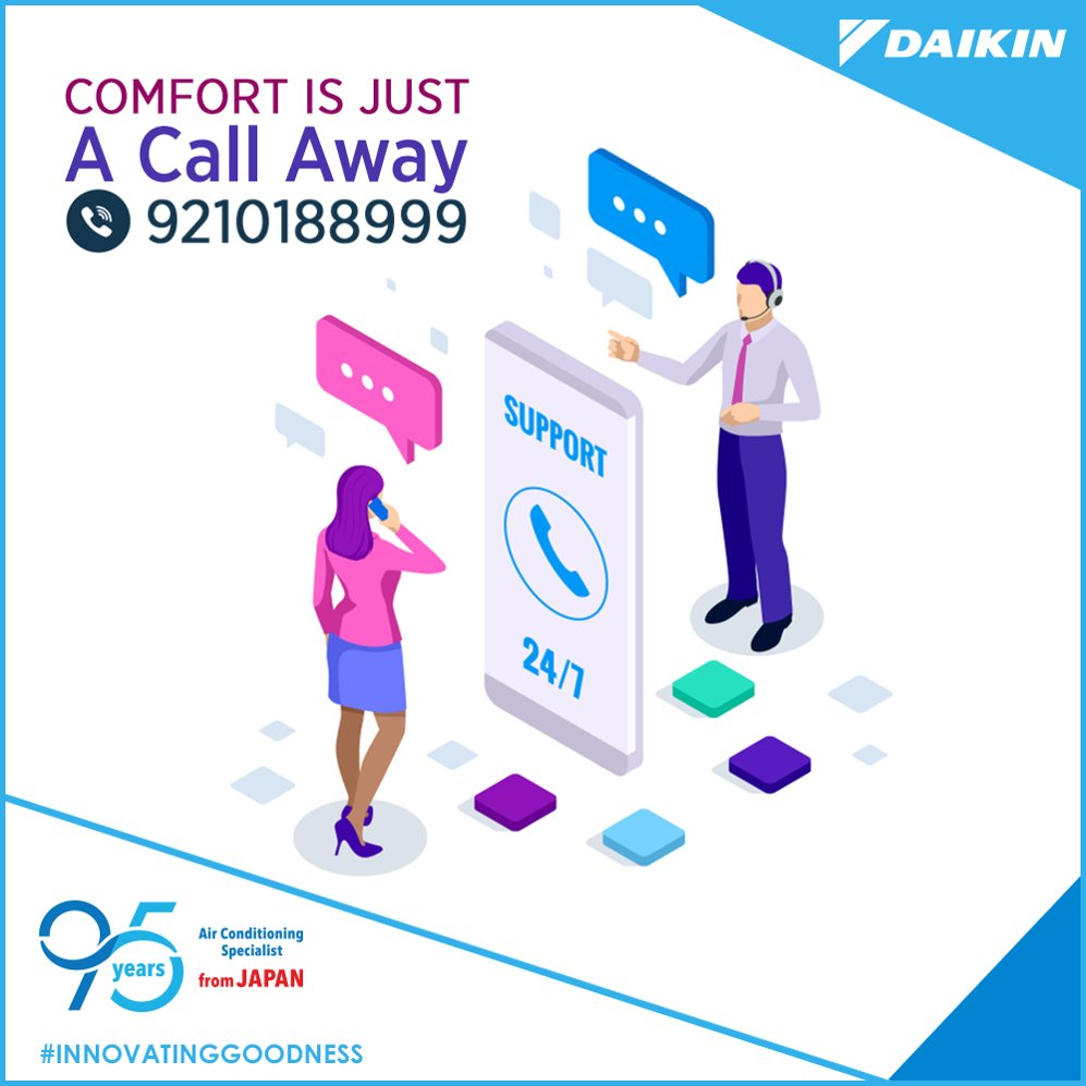 You know we care Get in touch as soon as you face an issue with your Daikin product. InnovatingGoodness https t