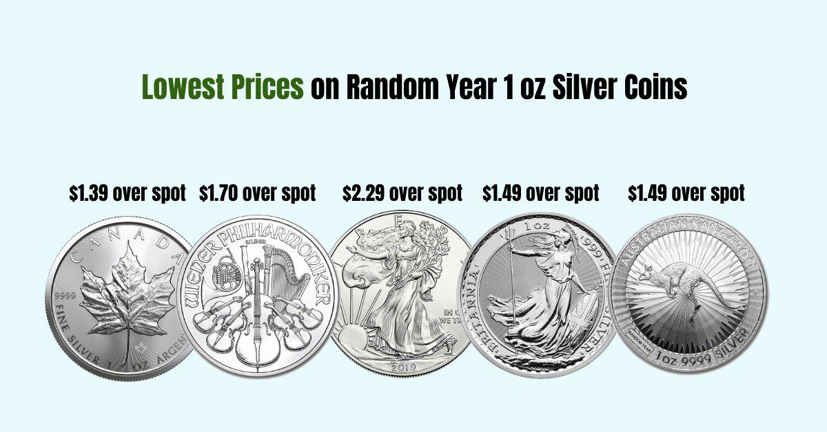 Lowest Prices On Random Year 1 Oz