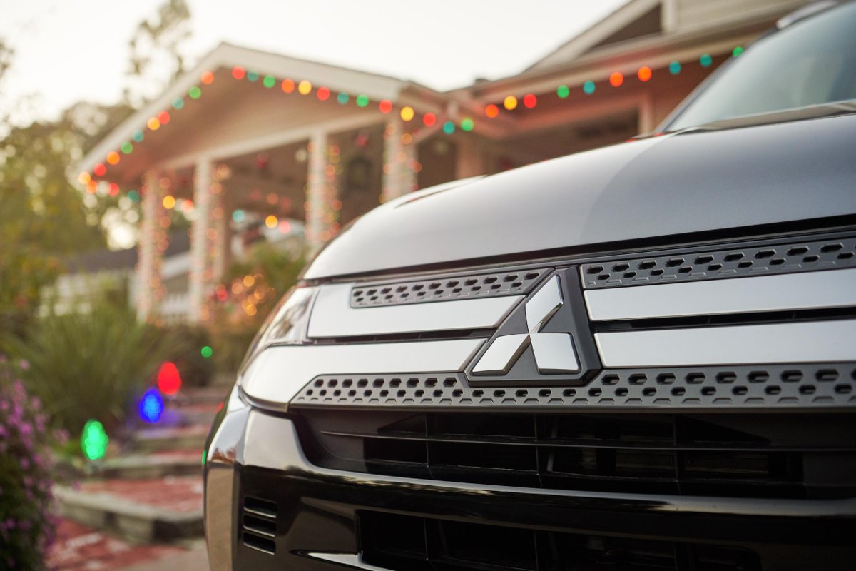 Best lights in town this year. #MitsubishiOutlander