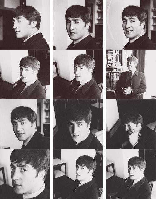 John Lennon at an early photo shooting in 1963 #TheBeatles via @SgtPepper1710
