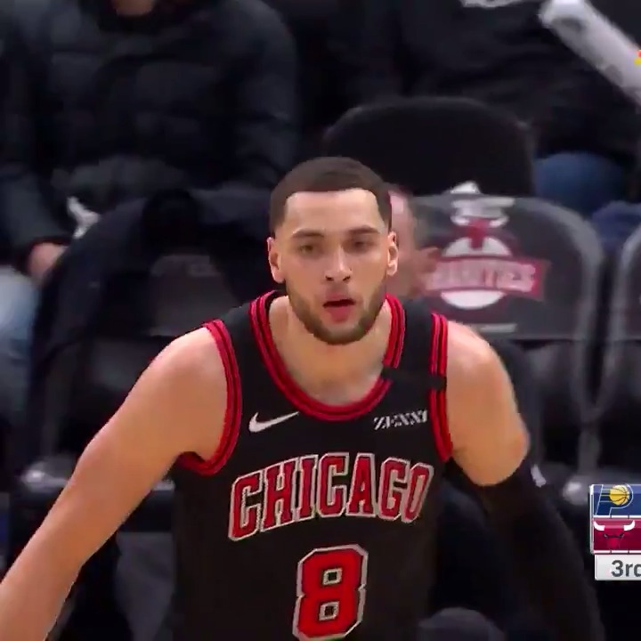 Zach LaVine (43 PTS & 8 3PM) recorded his second game with 40+ PTS this season! 😤  #BullsNation