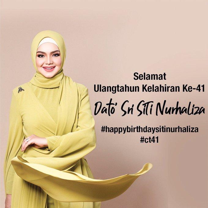 Happy birthday si jantung hati Malaysia Siti Nurhaliza