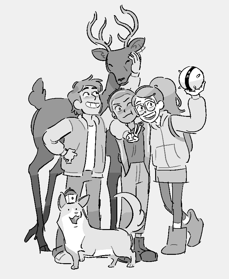 thanks for tuning in to Infinity Train everyone!!! these 10 episodes are some of my favorites and I'm so humbled that I got to be a part of it ☺️ here's a drawing from back when me and jacob finished up boarding our last Book 2 episode