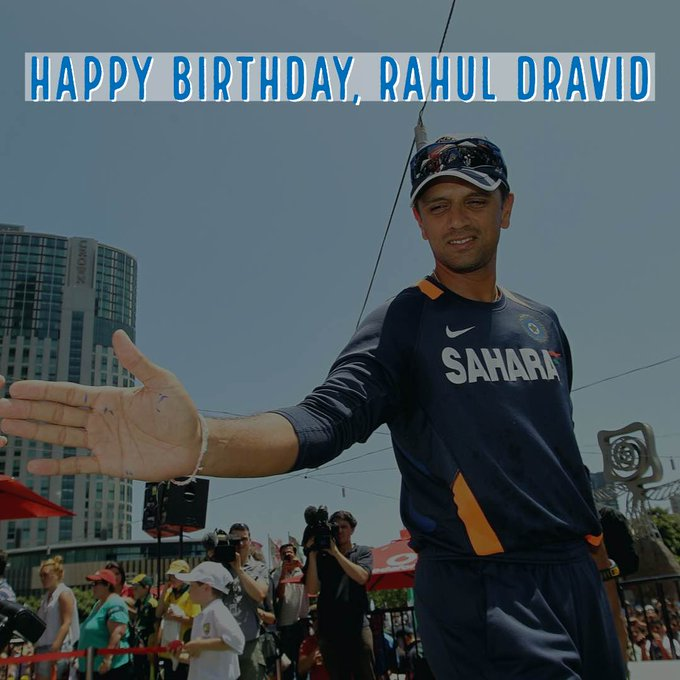 Happy birthday indian legend rahul dravid best indian test player fir all time