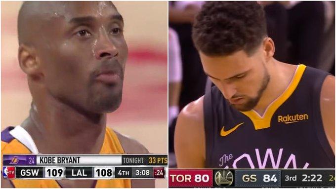 【影片】13年Kobe跟腱斷裂,眼含熱淚堅持罰球,青澀的K湯親眼目睹了一切,6年後他上演了同樣的劇情!