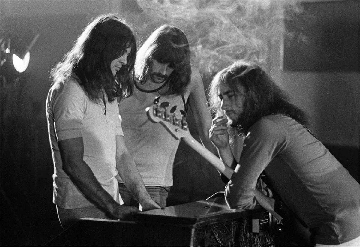 Deep Purple backstage, 1970. Photo by Barrie Wentzell.