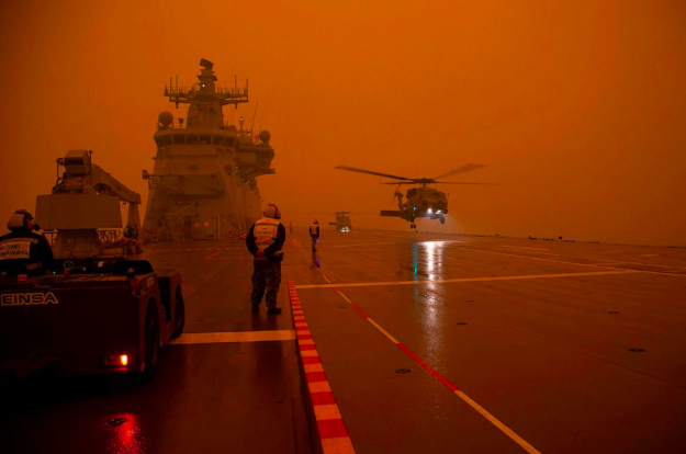 P9: Remember hearing us say we need a WWII level footing to take on the Climate Crisis? Ask Australia about it. Do we wait until it's our country that's literally on fire? If all you care about is money, what do you think is the more cost effective approach?  #AustraliaisBurning