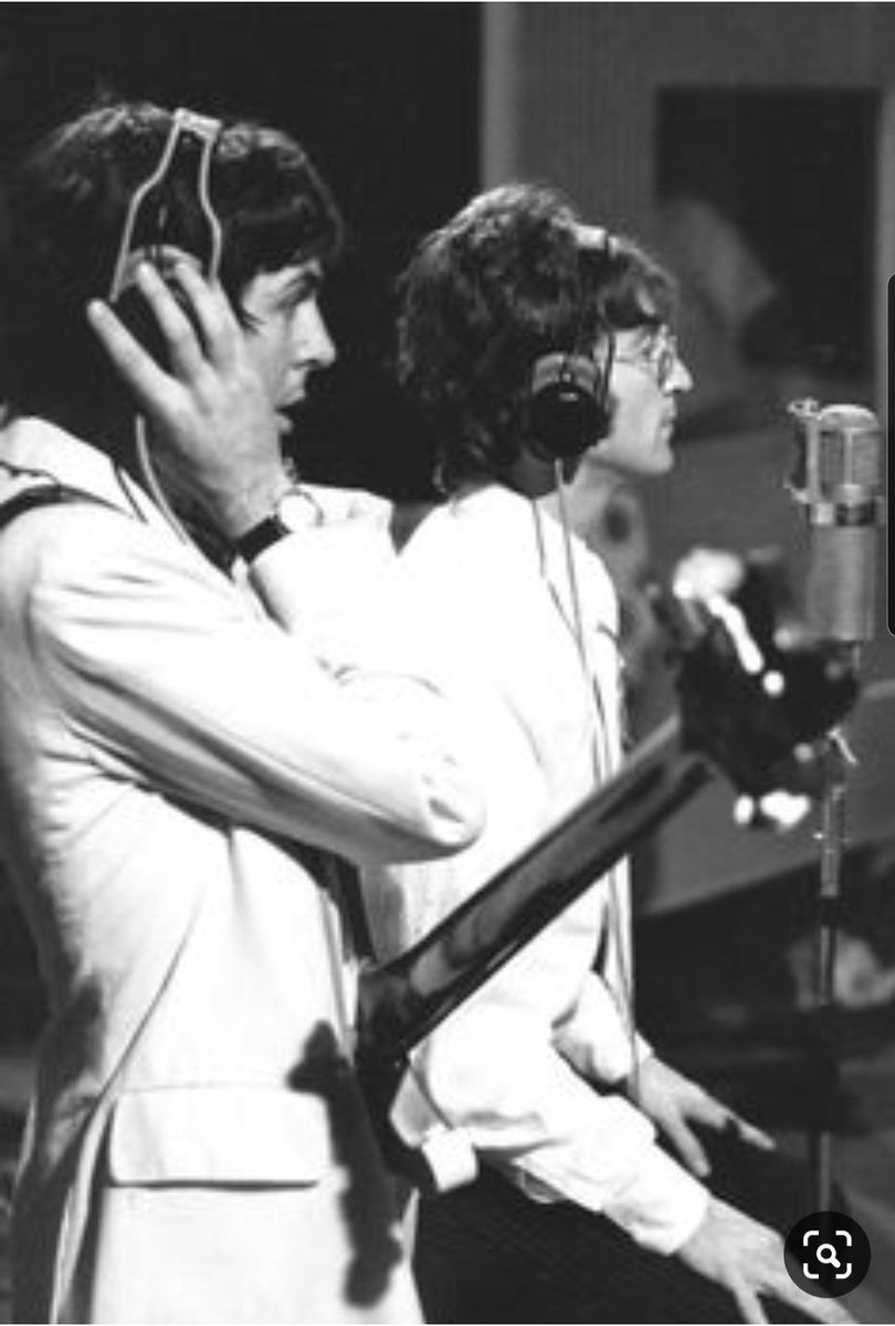 John and Paul recording All You Need Is Love, 1967 #TheBeatles
