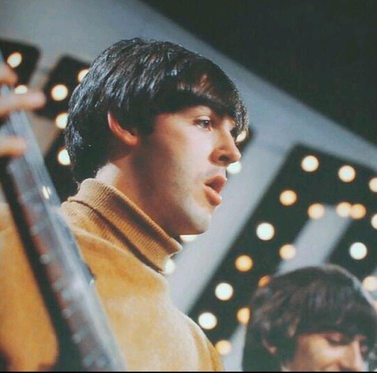 #PaulMcCartney rehearsing for a TV show circa 1964 #TheBeatles